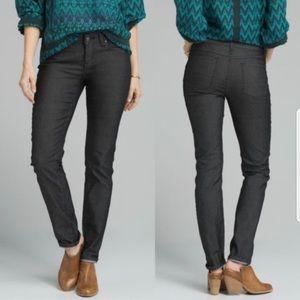 Prana Charcoal Skinny Low Rise Kara Jeans
